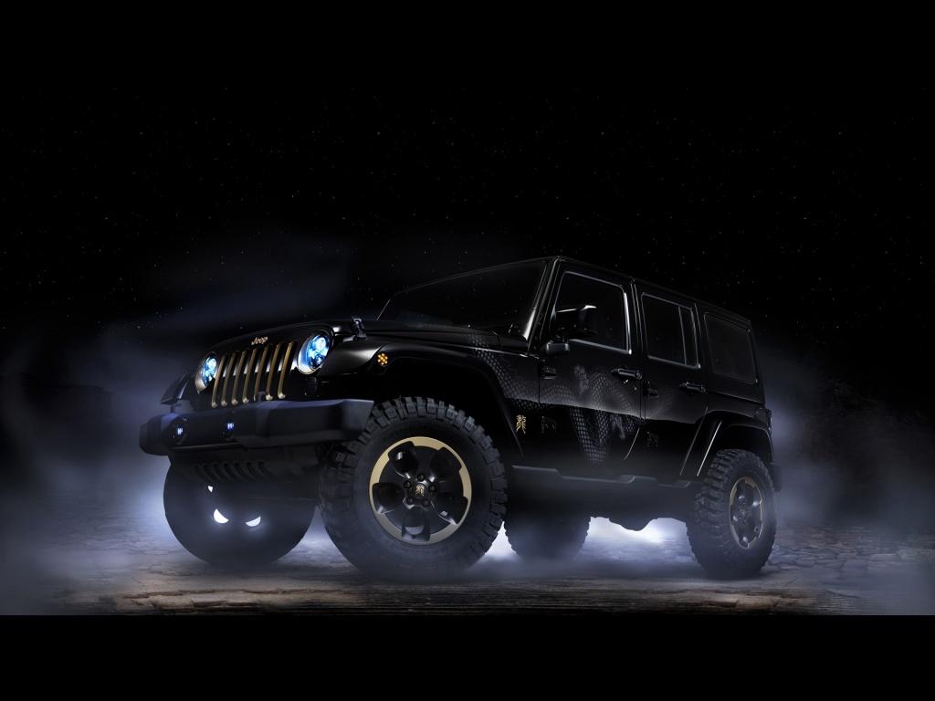 1024x768 Jeep Wrangler Dragon Design Concept Static Side Angle desktop 1024x768