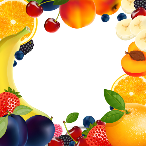 Fruit And Vegetable Border Fresh fruits vector 02   vector easter 500x500