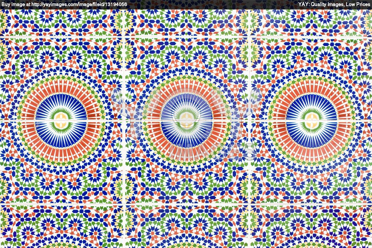Moroccan tile wallpaper wallpapersafari for Moroccan wallpaper uk