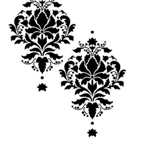 wallpaper that looks like stencils - photo #7