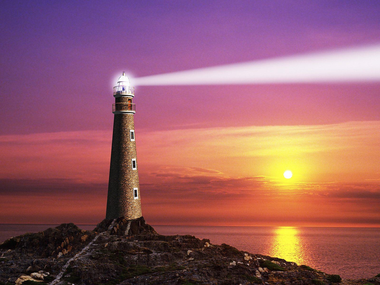 The Coastal Lighthouse   Computer Art Photography Desktop Wallpapers 1600x1200