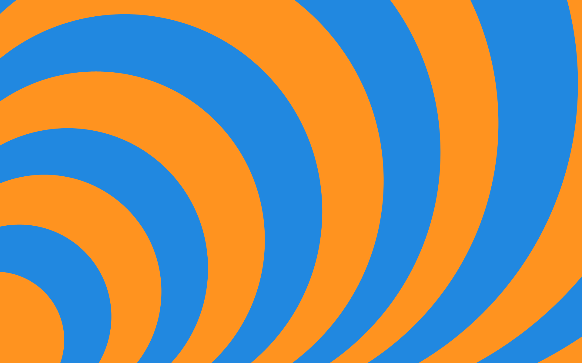 Concentric   Orange and Blue by ts2master 1920x1200