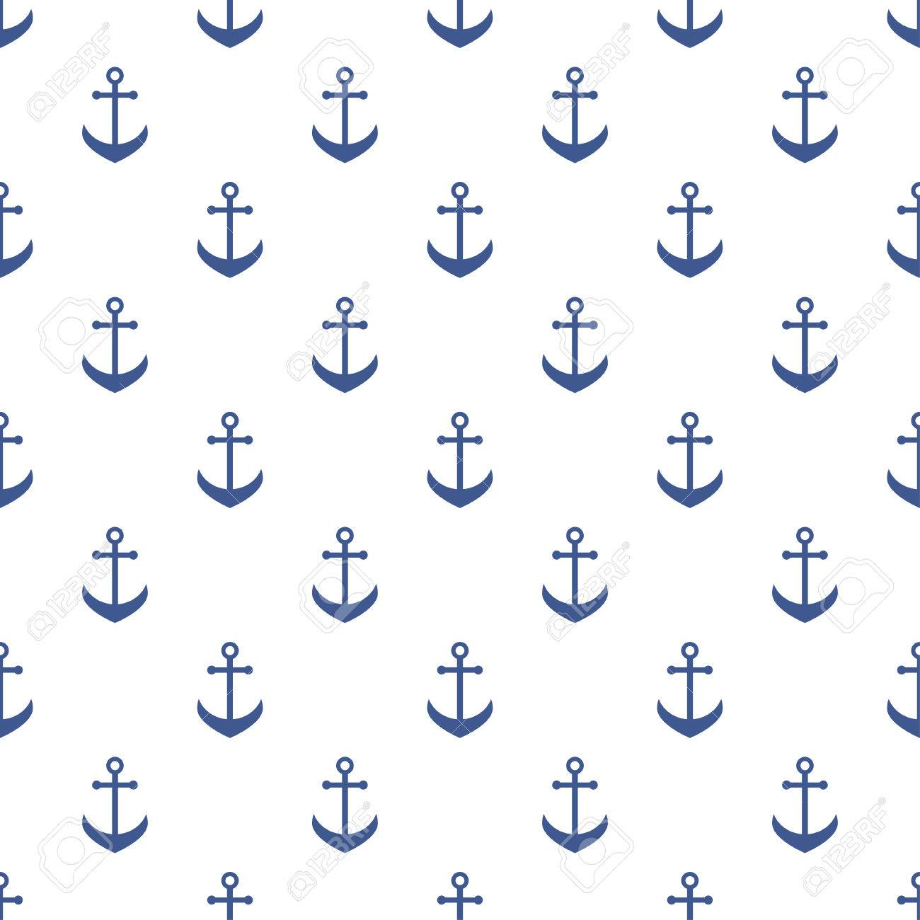 Background With Blue Anchors Royalty Cliparts Vectors And 1300x1300