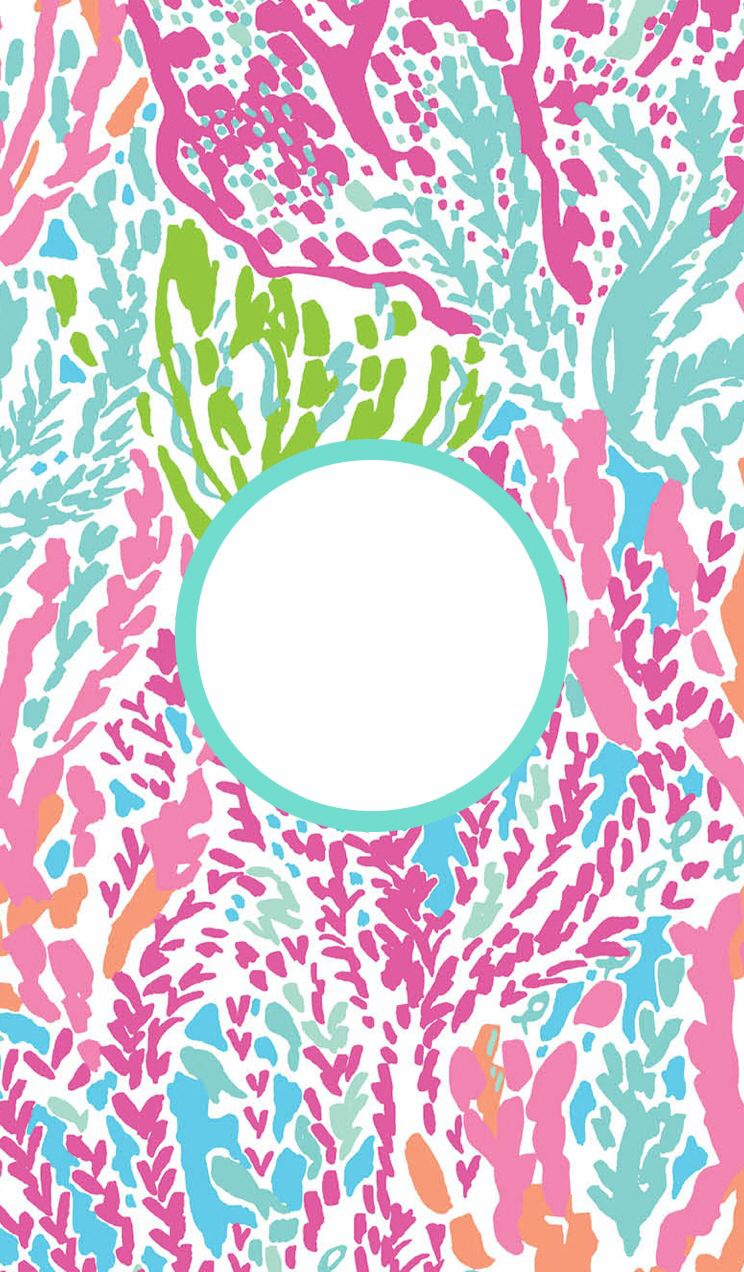 Binder covers   via monogram app Lilly pulitzer iphone wallpaper 744x1272