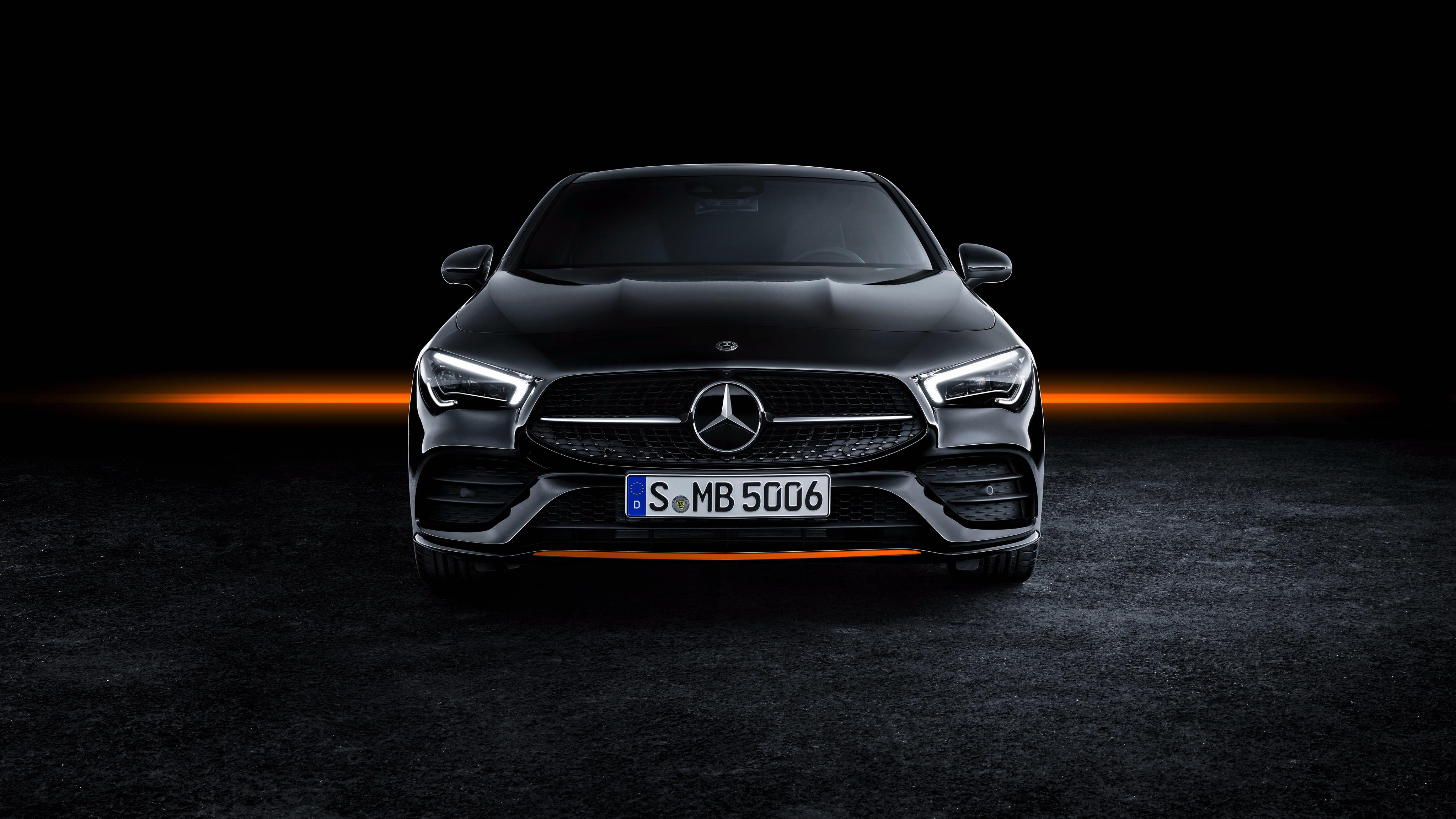 Mercedes Benz CLA 250 AMG Line Edition Orange Art 2019 4K 2 4096x2304