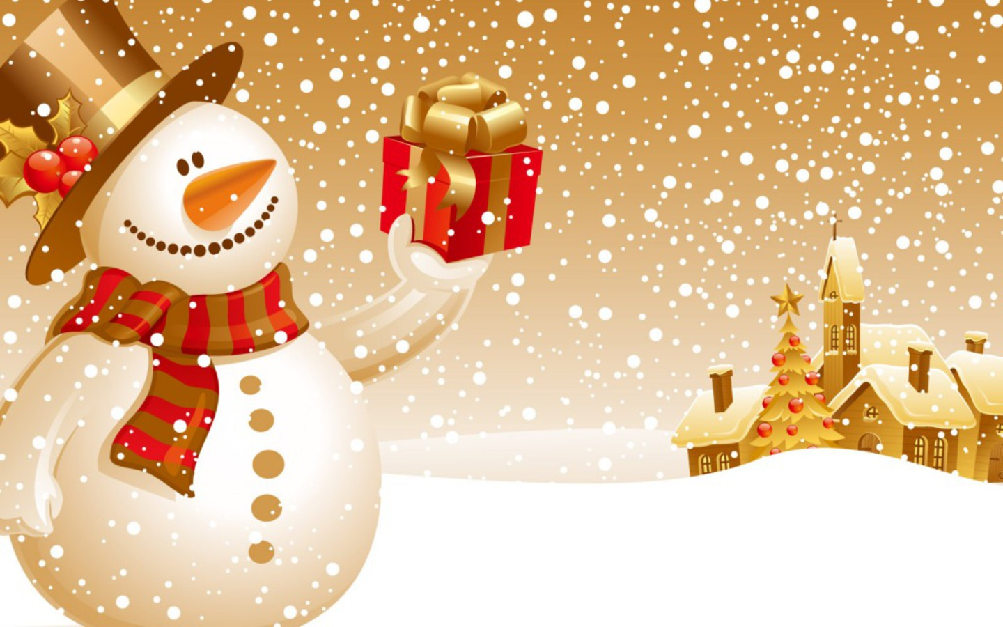 Cute Christmas Snowman wallpaper Wallpapers   HD Wallpapers 87978 1440x900