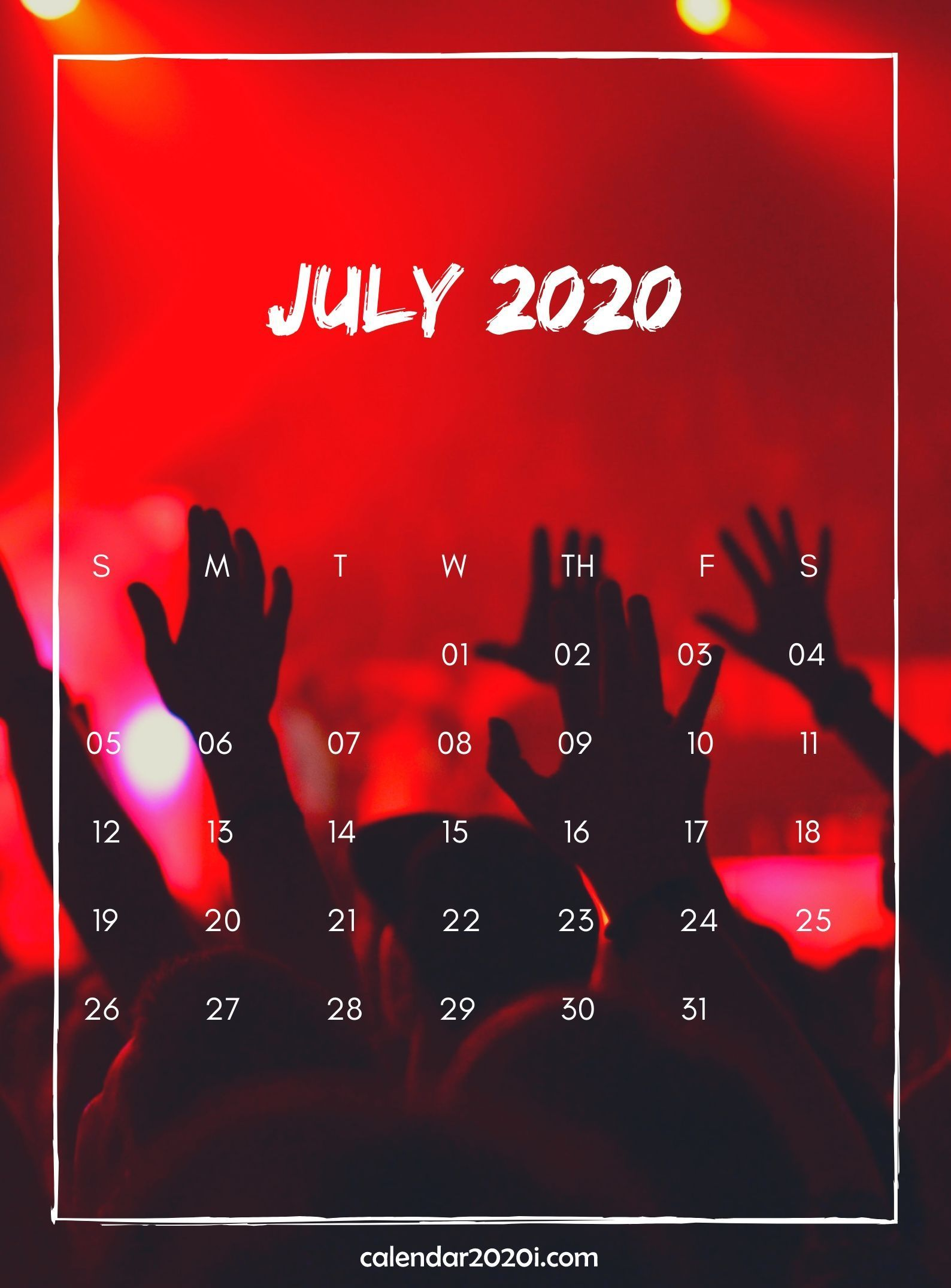 July 2020 Wall Calendar Printable 2020 Calendars Calendar 1588x2151