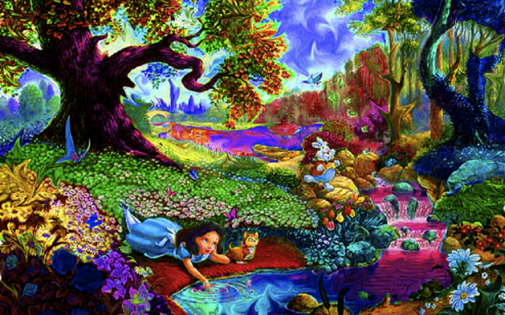 Trippy Alice in Wonderland Wallpaper - WallpaperSafari