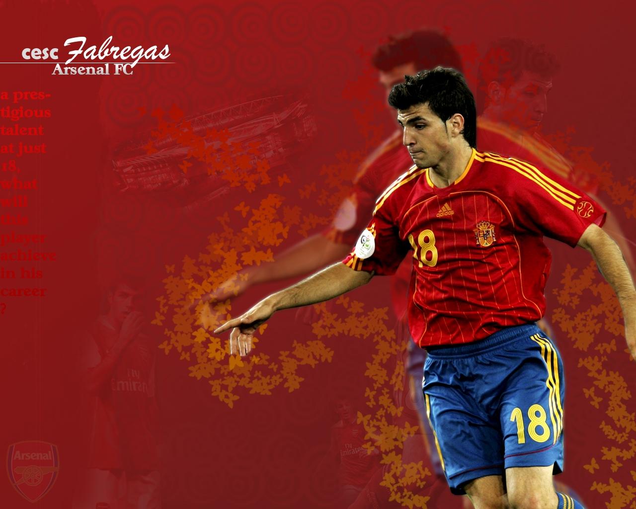 Cesc Fabregas Football Wallpaper 1280x1024