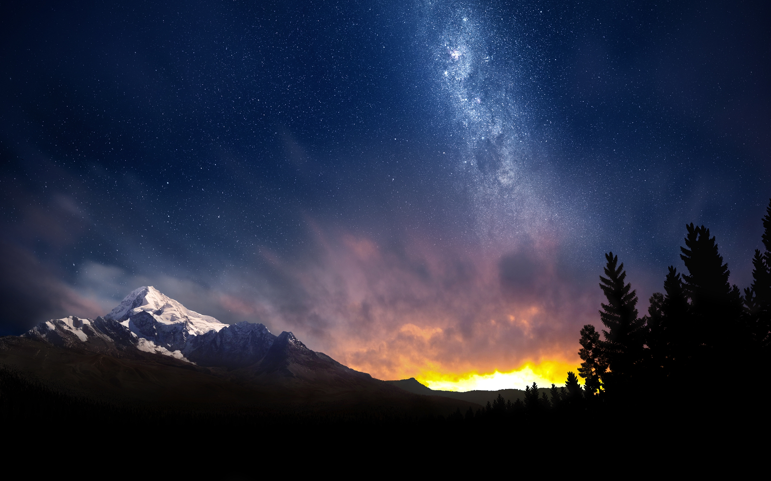 Night Sky Wallpaper Hd 2560x1600