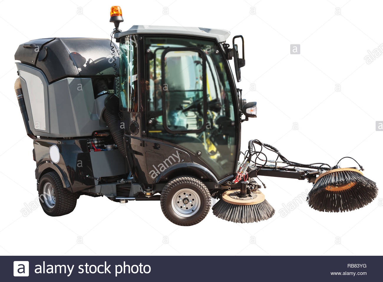 Street sweeper or cleaning machine for streets isolated with 1300x956