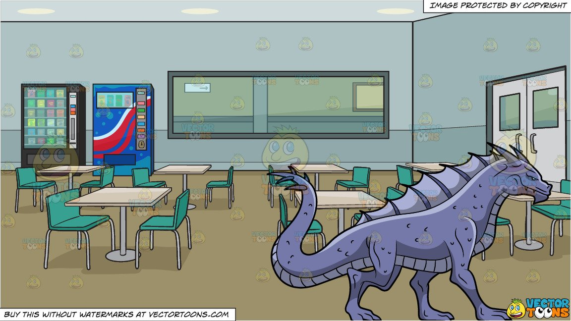 A Violet Dragon and Employee Lunch Room In An Office Building 1152x648