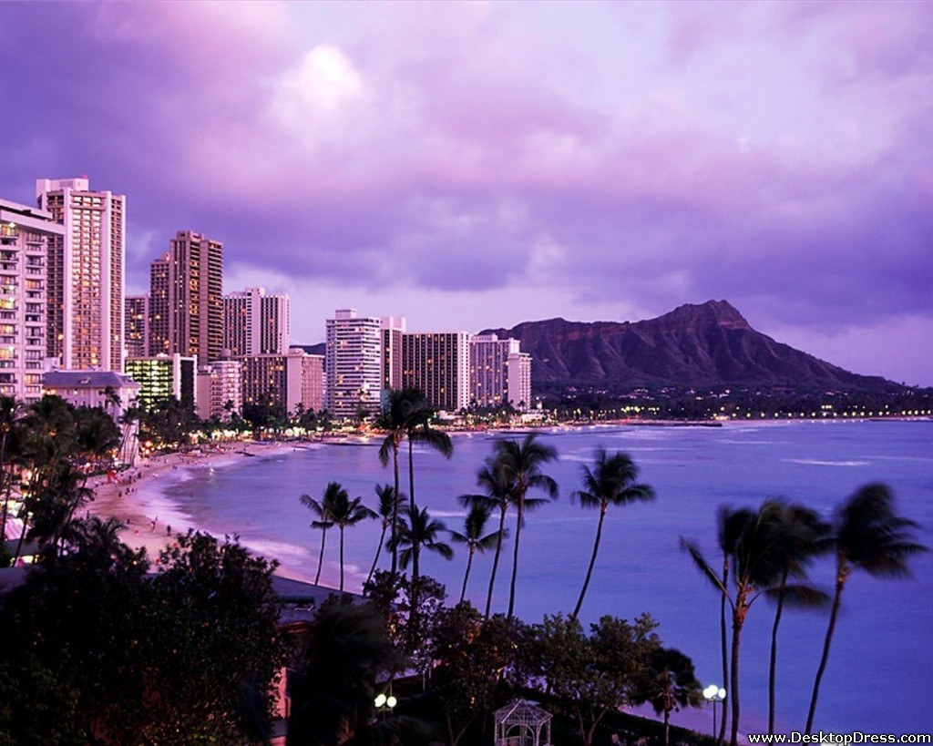 Wallpapers Natural Backgrounds Waikiki Beach Honolulu Oahu 1024x819