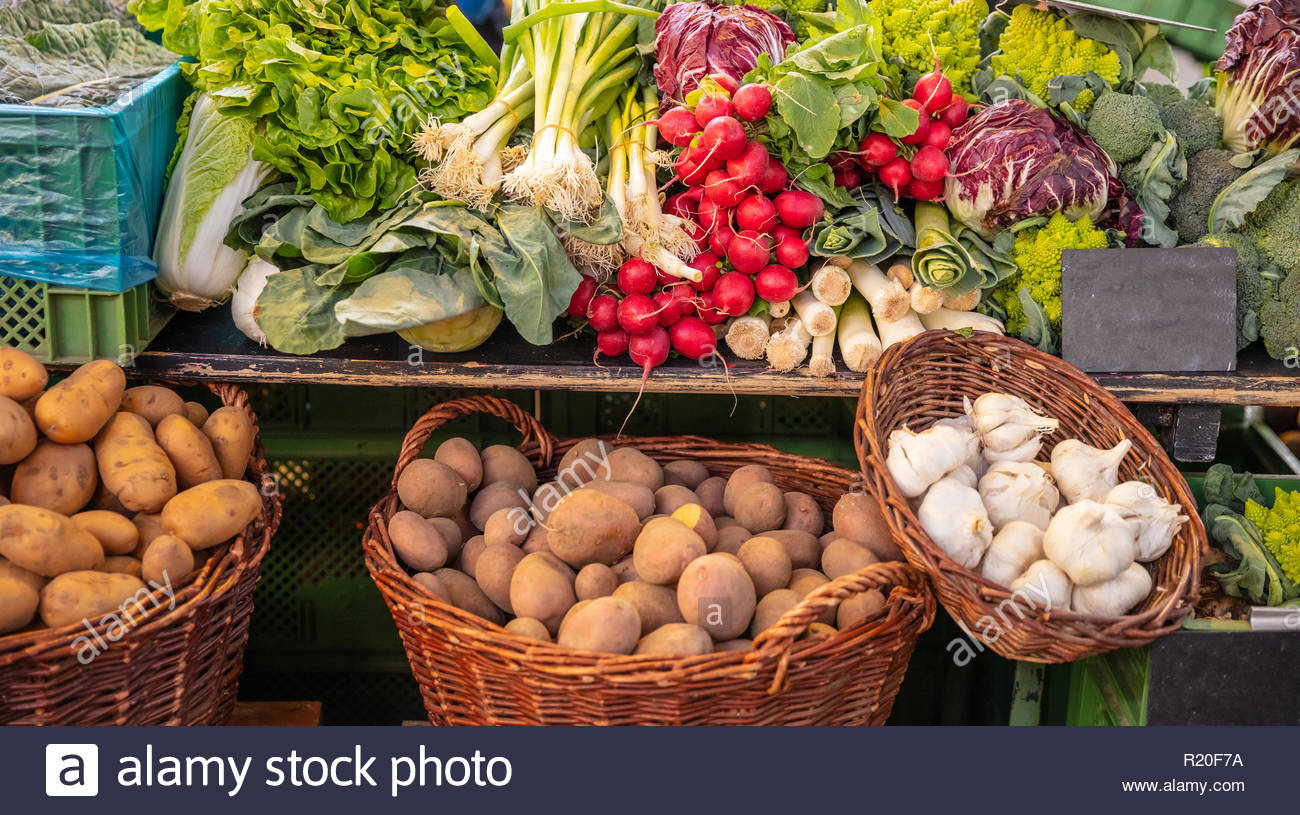 Colorful display of various vegetables in a local market in Berlin 1300x815
