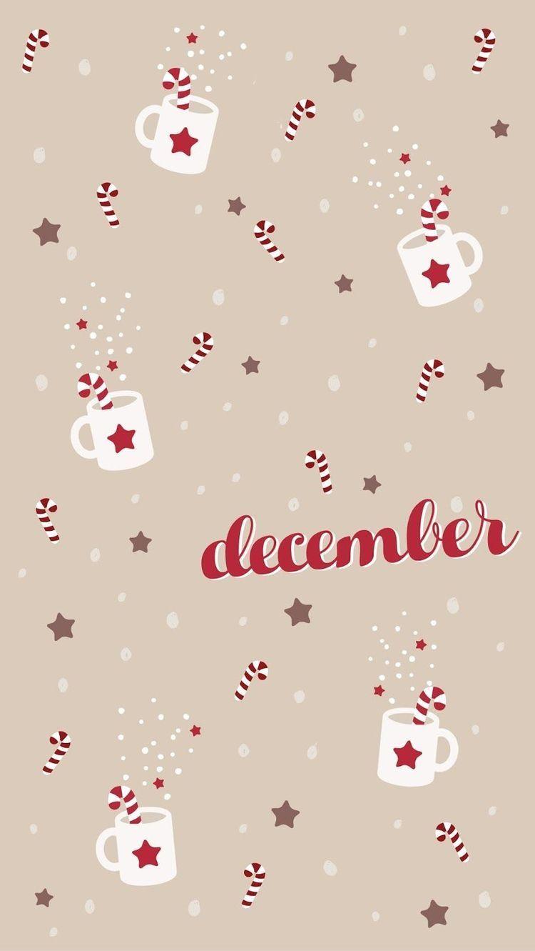 December Christmas phone wallpaper Cute christmas wallpaper 750x1331