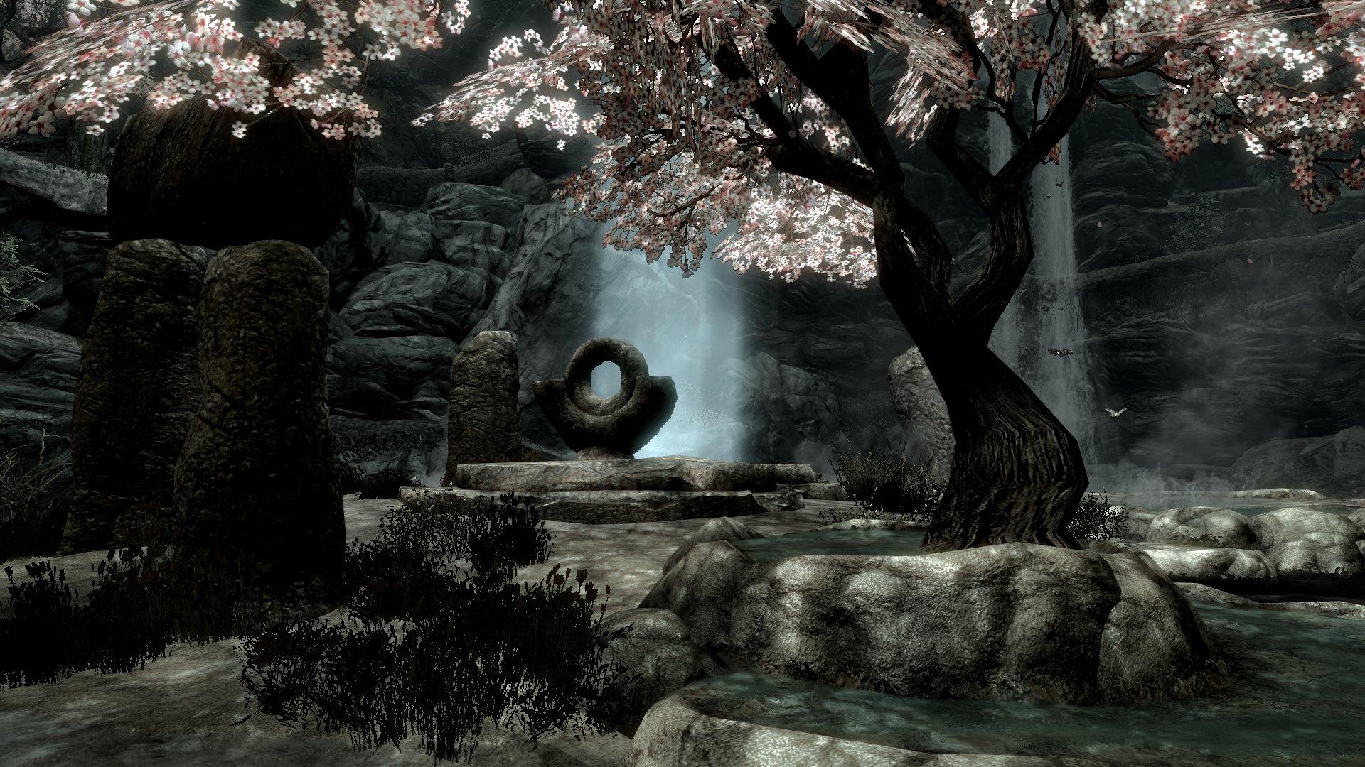 Elder Scrolls V Skyrim Beautiful Peace Tree Water wallpaper background 1920x1080