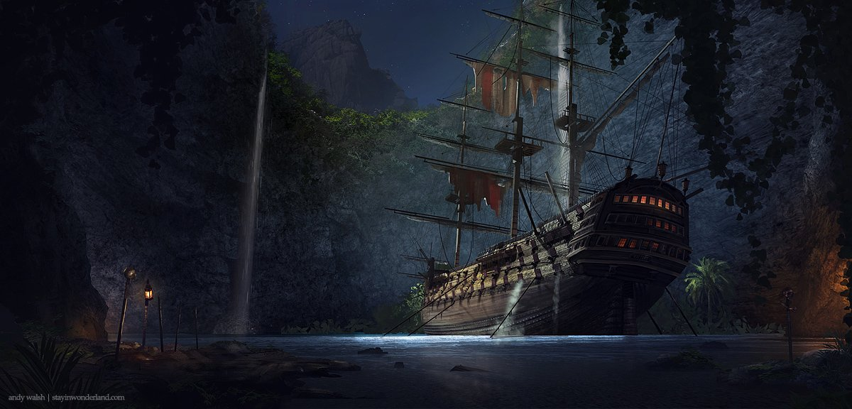 3d Pirate Ship Wallpaper Wallpapersafari