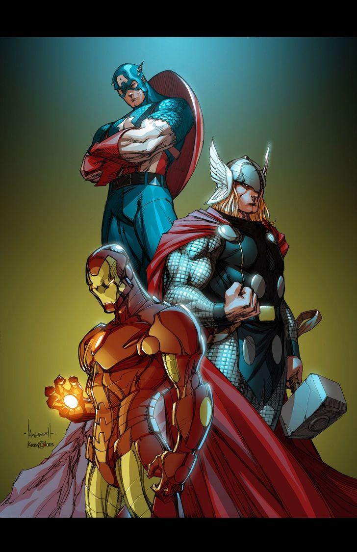 iron man thor captain america superheroes artwork marvel guys 728x1125