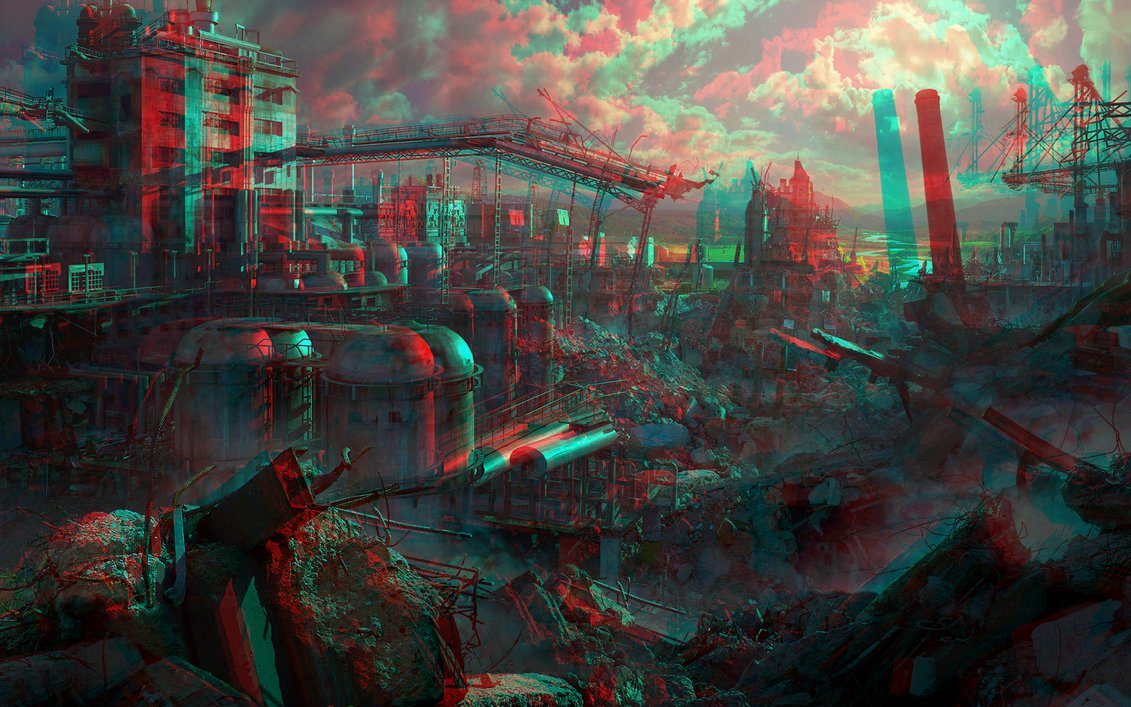 Ruins 3D Anaglyph Red Cyan by Fan2Relief3D 1131x707