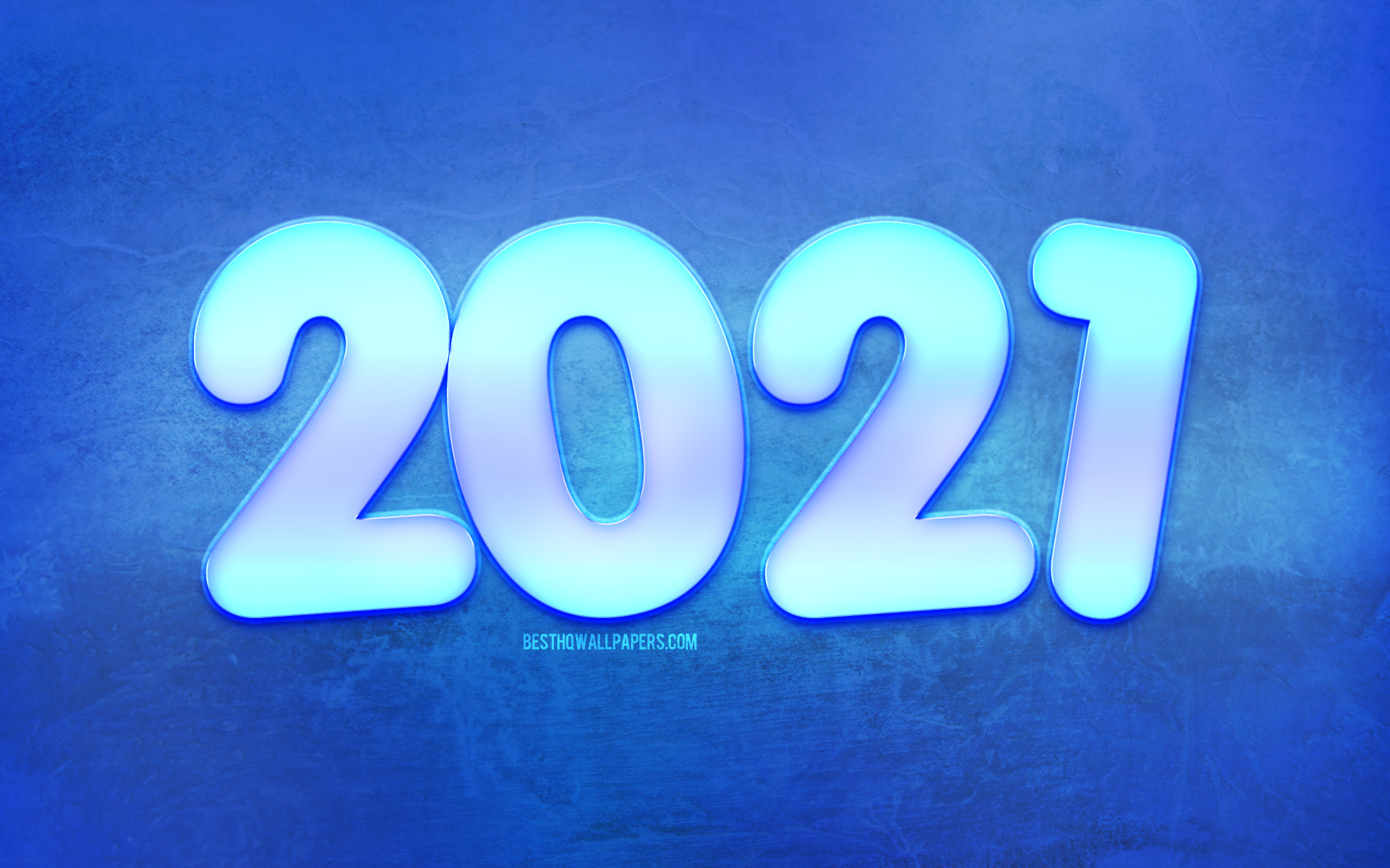 Download wallpapers 2021 New Year Winter blue background 2021 2880x1800