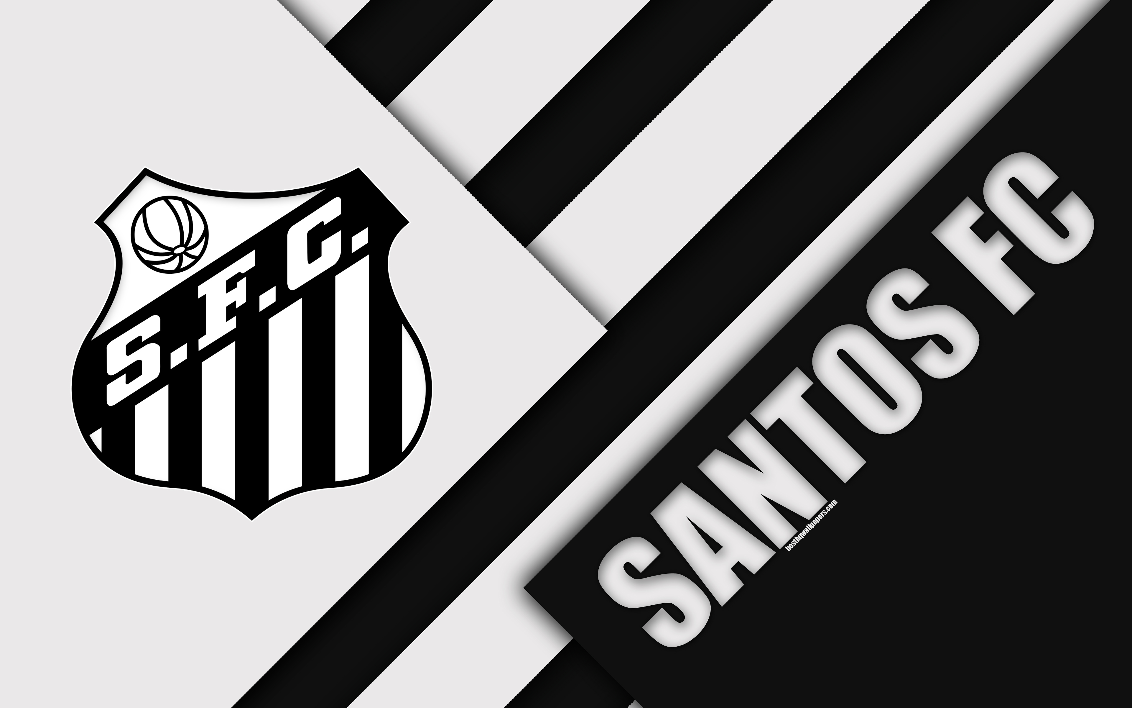 Download wallpapers Santos FC So Paulo Brazil 4k material 3840x2400