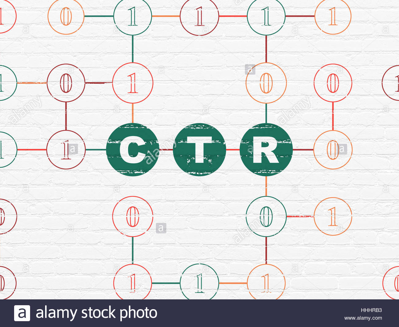 Finance concept CTR on wall background Stock Photo 131313255   Alamy 1300x1065