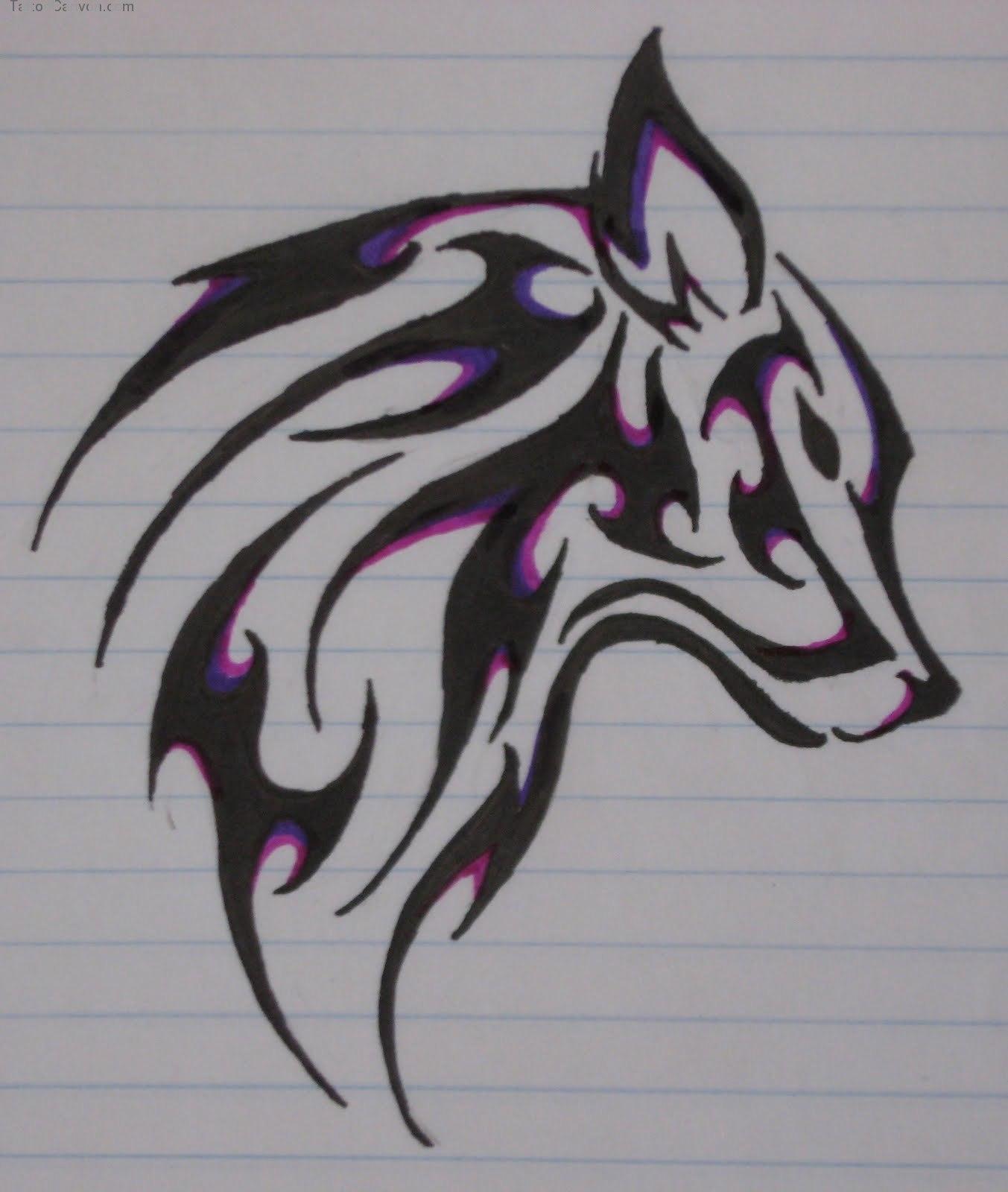 Tribal Wolf Wallpaper: Tribal Wolf Wallpaper