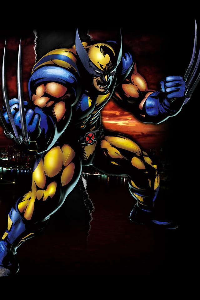 Marvel vs Capcom 3 iPhone wallpaper Wolverine 640x960 640x960