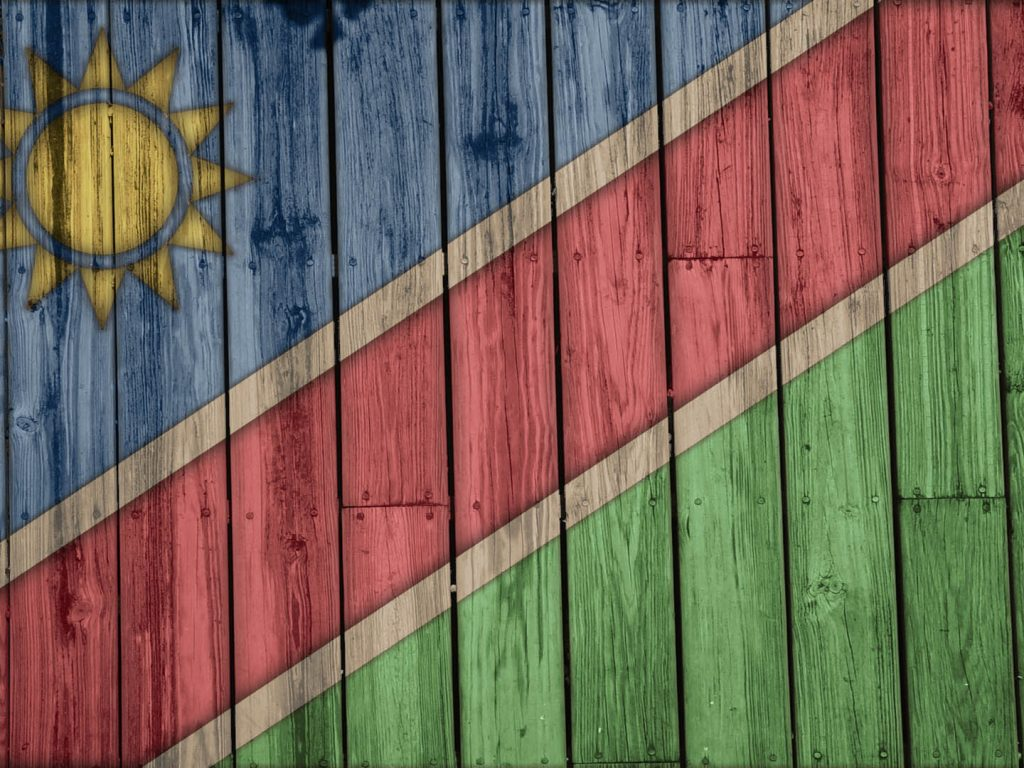 Creative Wallpaper Of Namibias Country Flag PaperPull 1024x768