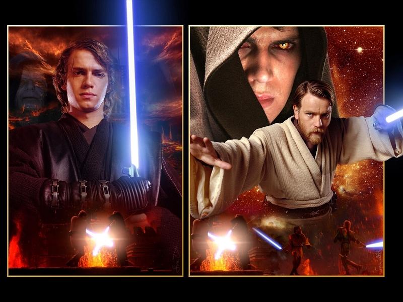 Anakin Skywalker Vs Obi Wan Kenobi Wallpaper obi wan kenobi and Anakin 800x600