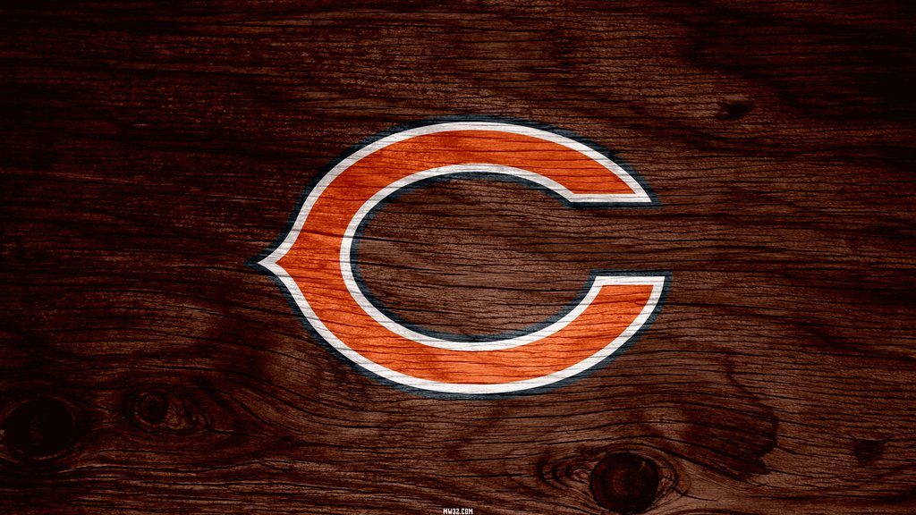 Chicago Bears Brown Weathered Wood Wallpaper for iPhone 6 1024x576