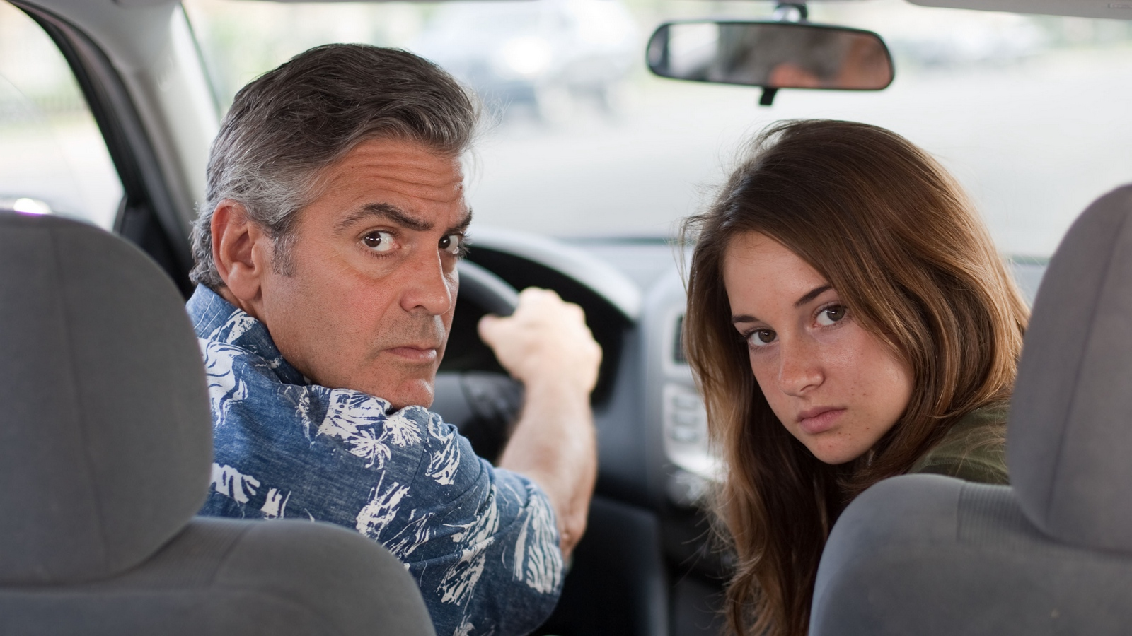 Download wallpaper 1600x900 the descendants george clooney 1600x900