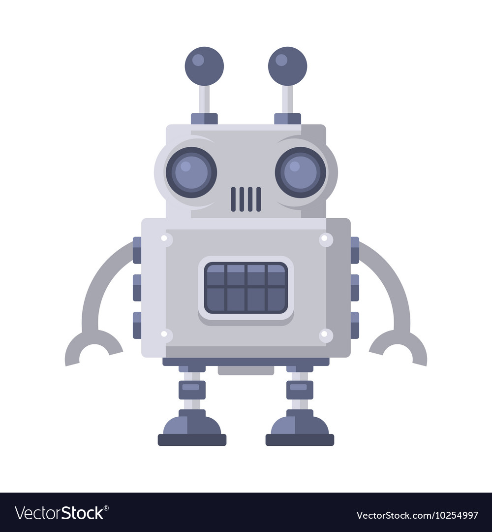 Fiction robot on white background Royalty Vector Image 1000x1080