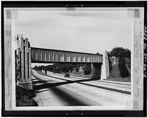 Rocky Hill Road Bridge Merritt Parkway Trumbull Connecticutfrom 500x399
