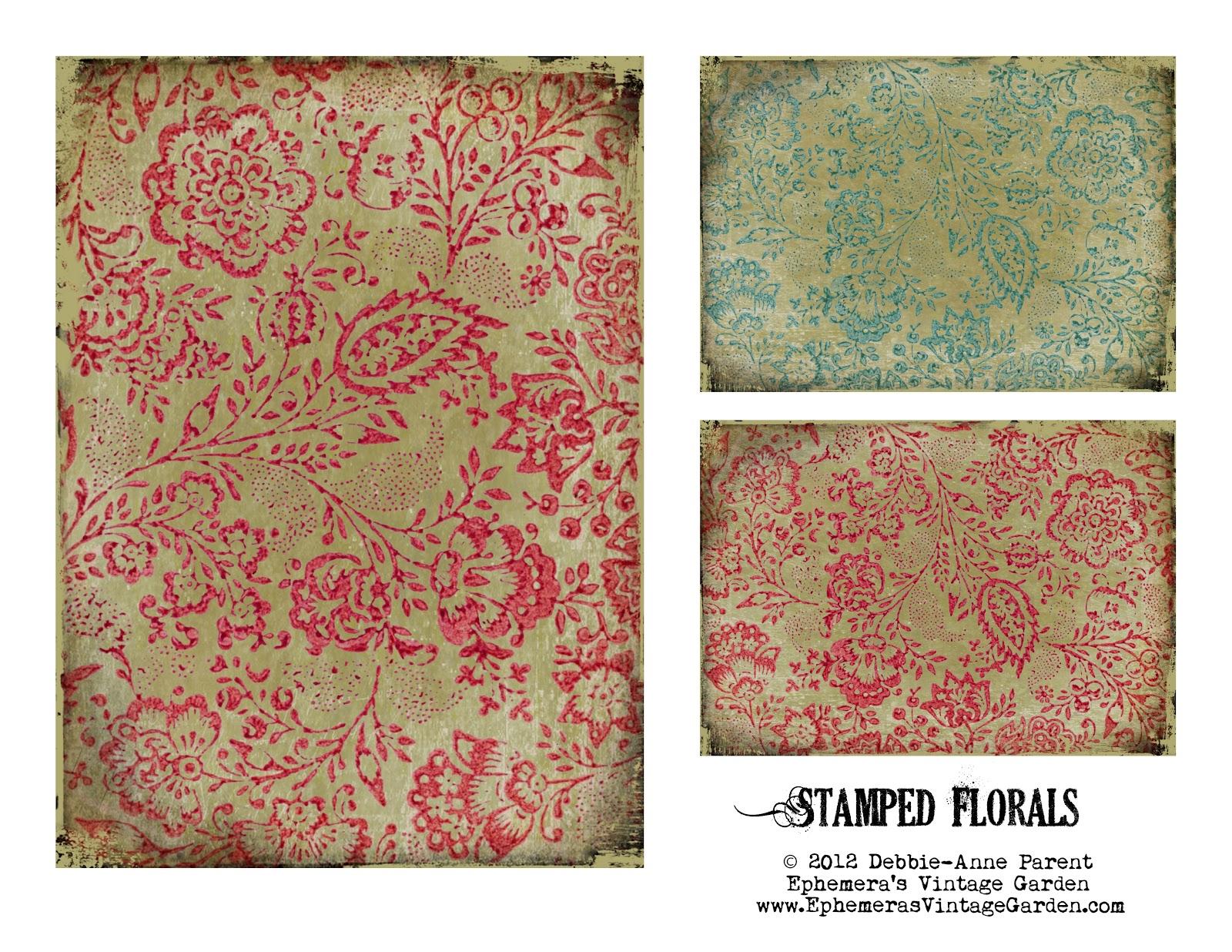 Ephemeras Vintage Garden Printable Floral Backgrounds 1600x1236