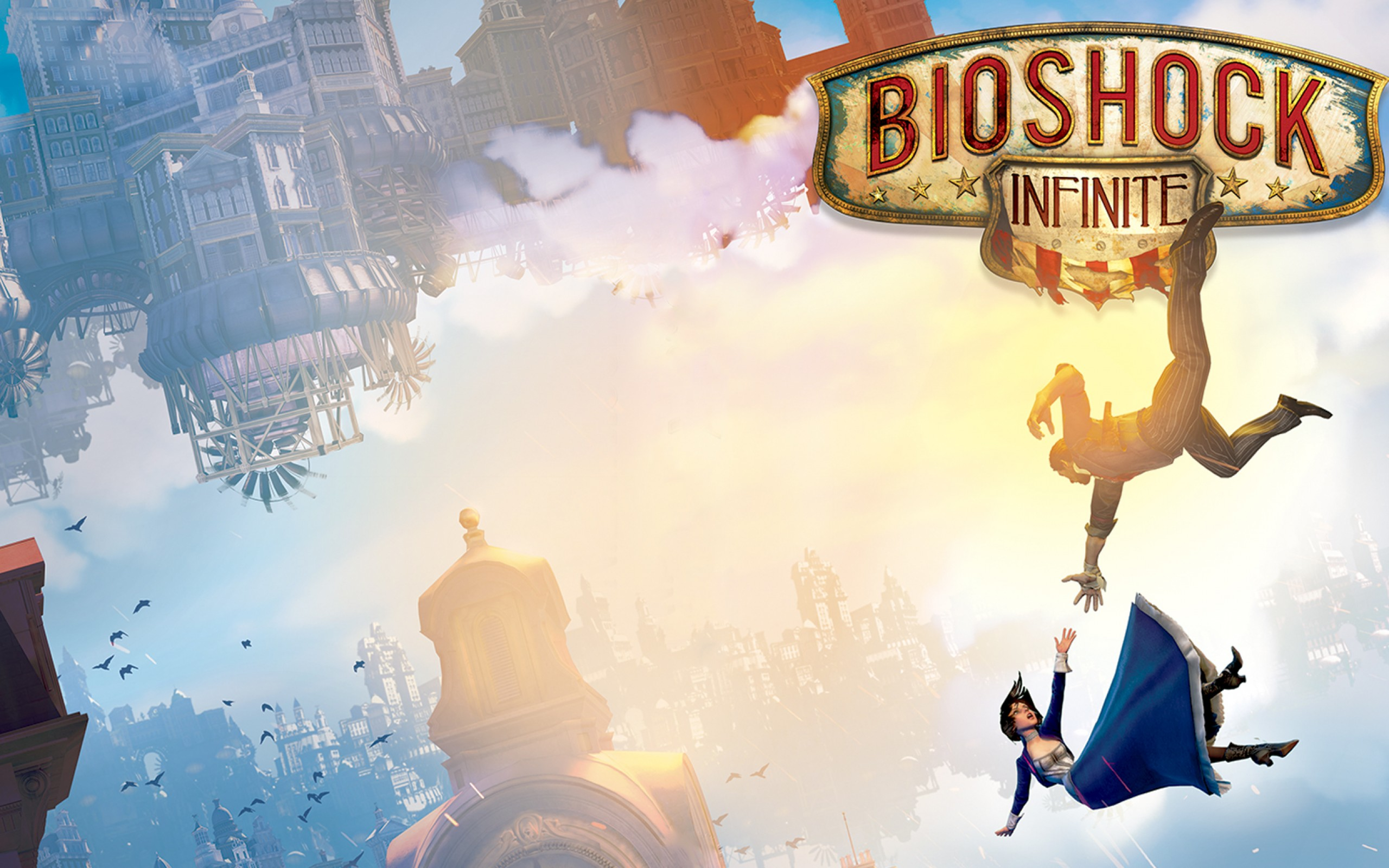 Bioshock Infinite Wallpaper Falling HD Wallpaper Background Images 2560x1600