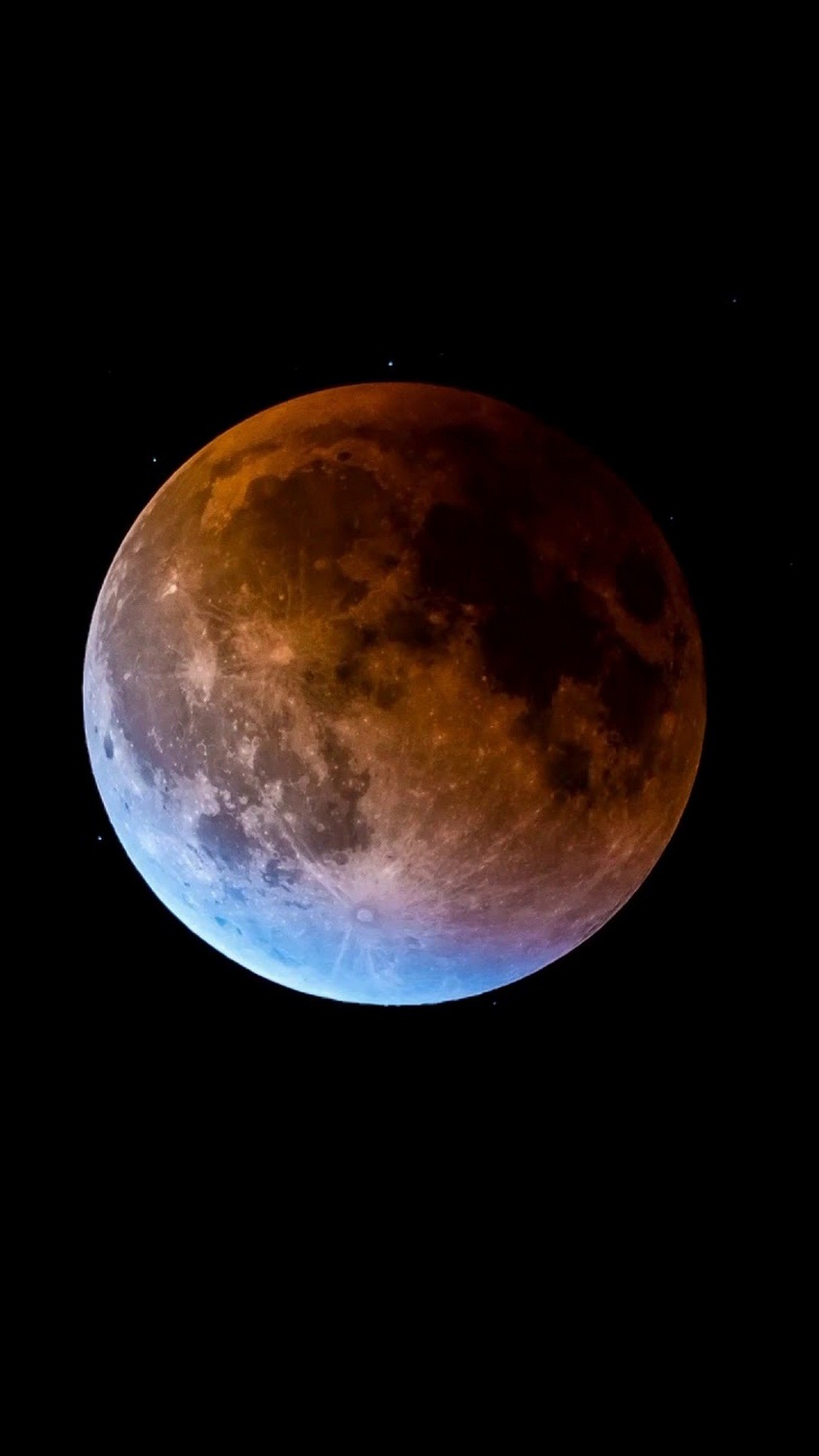 iPhone Wallpaper Super Blue Blood Moon 2020 3D iPhone Wallpaper 1080x1920