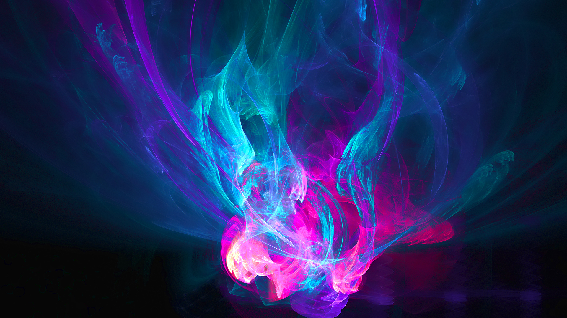 Wallpaper abstraction fire pink blue purple patterns wallpapers 1920x1080