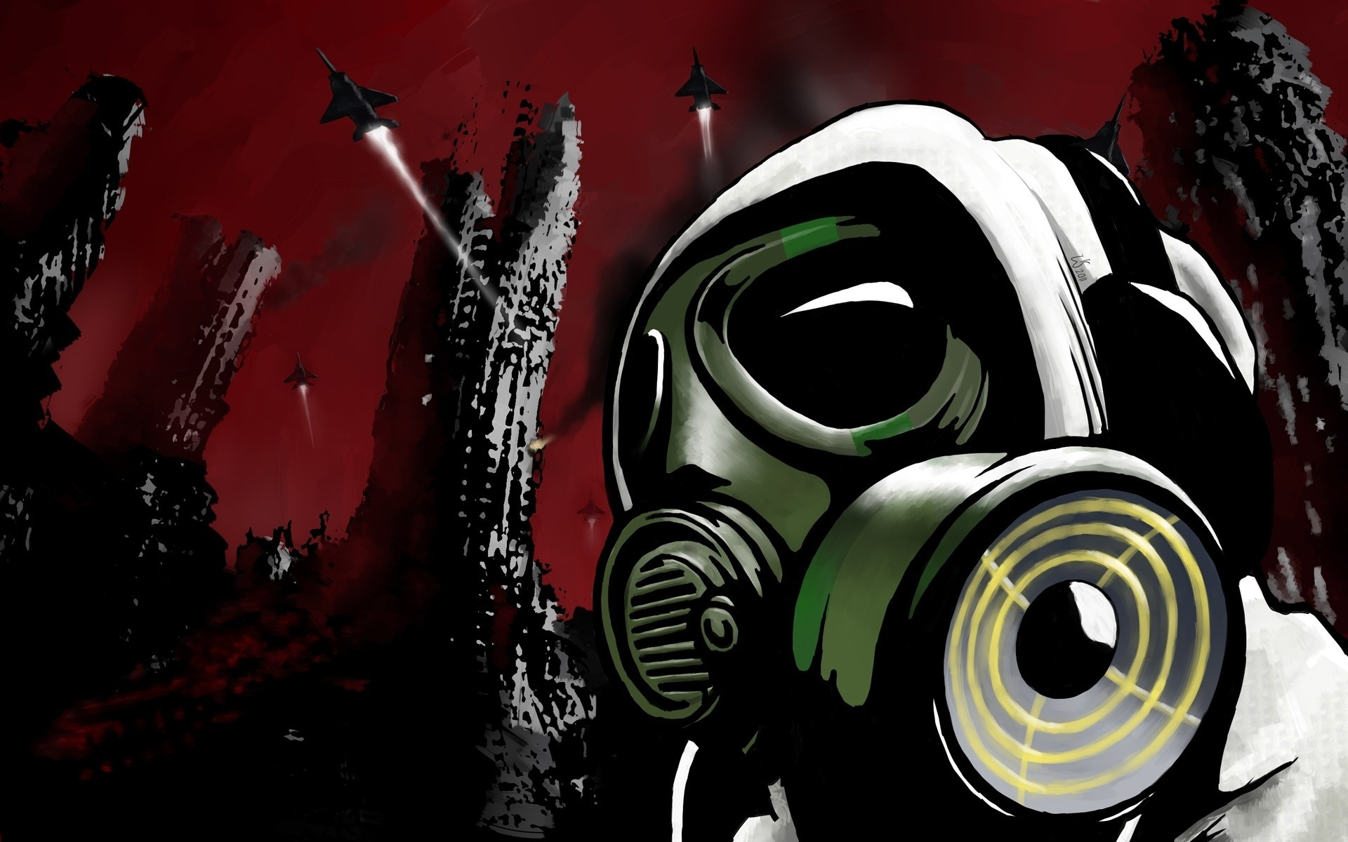 46+ Anime Gas Mask Wallpaper on WallpaperSafari