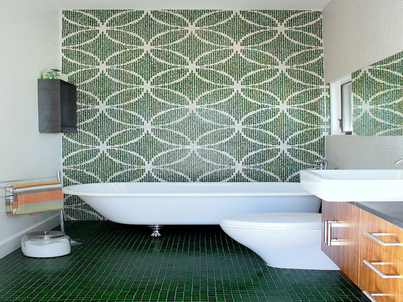 Waterproof Wallpaper for Bathrooms Green Waterproof Wallpaper For 800x600