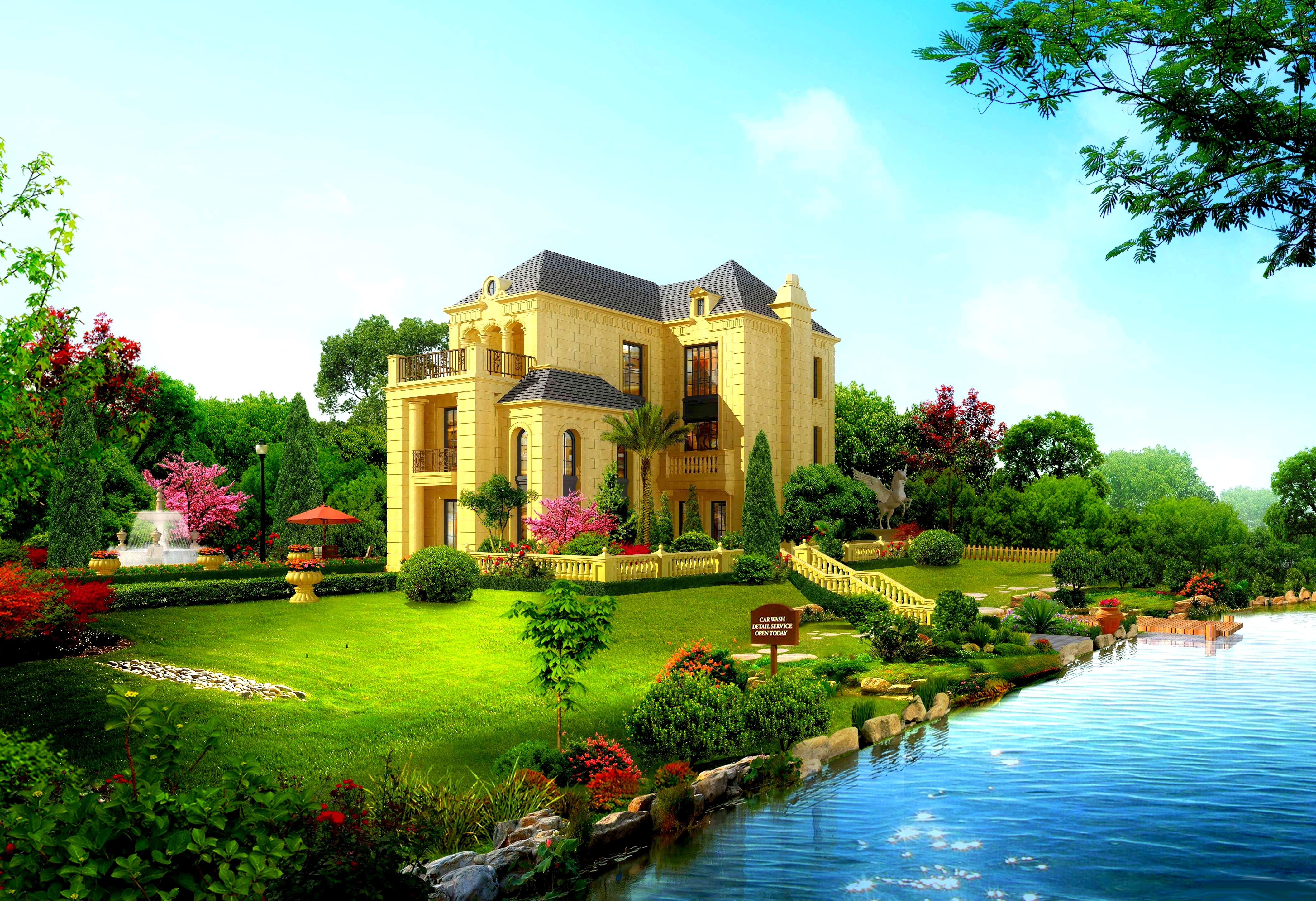 Beautiful house wallpaper 10490 PC en 4224x2891