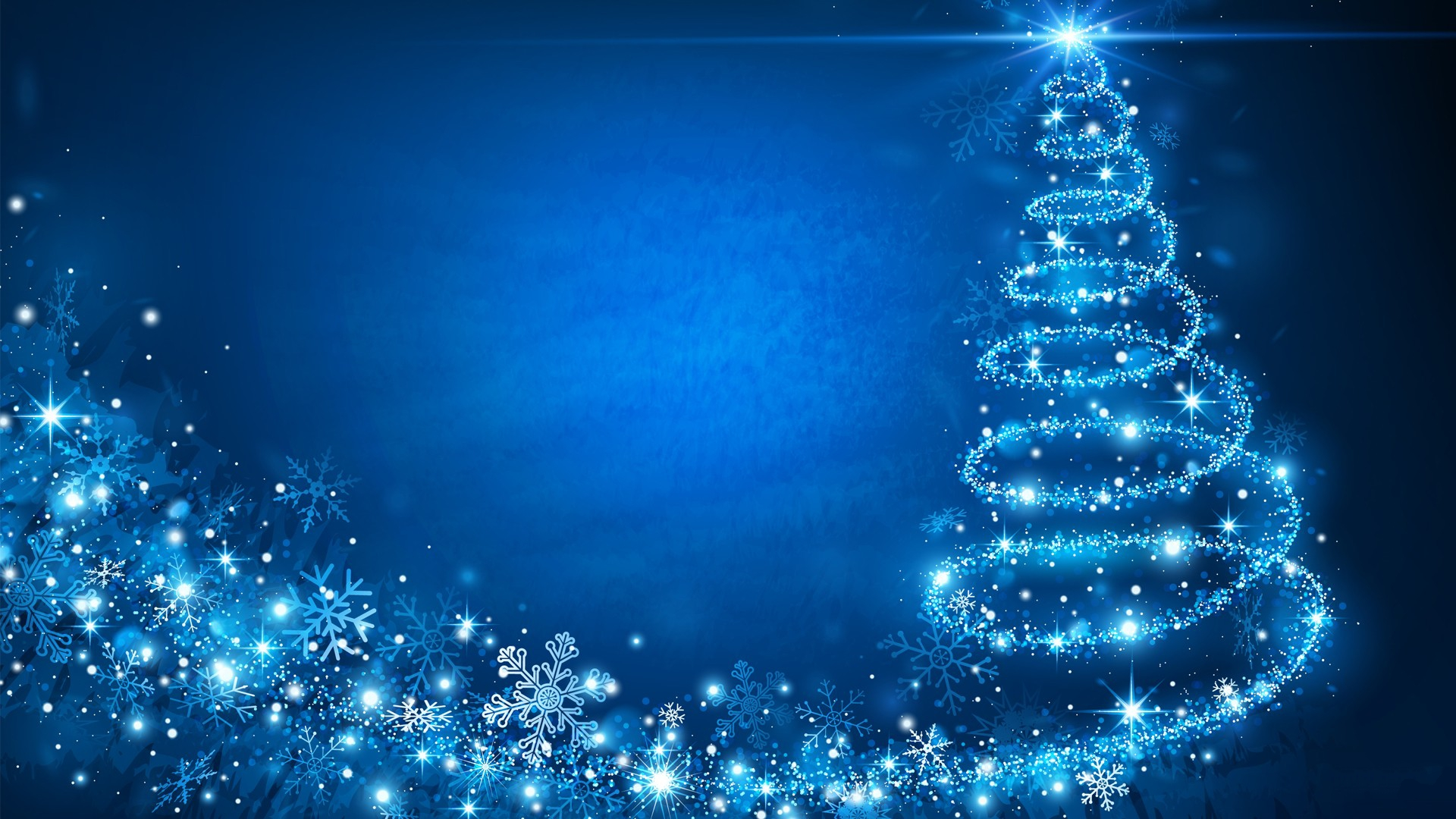 Blue Christmas Wallpaper HD 1920x1080