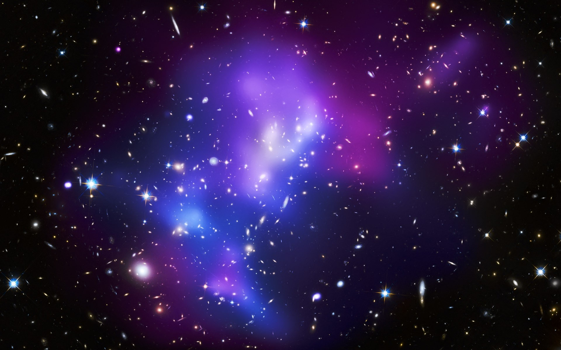 Purple And Blue Galaxy Wallpaper