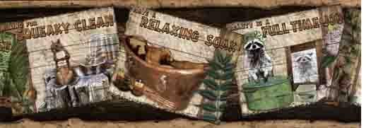 Cabin Window Wallies Mural 13441   Wallpaper Border Wallpaper inc 525x181