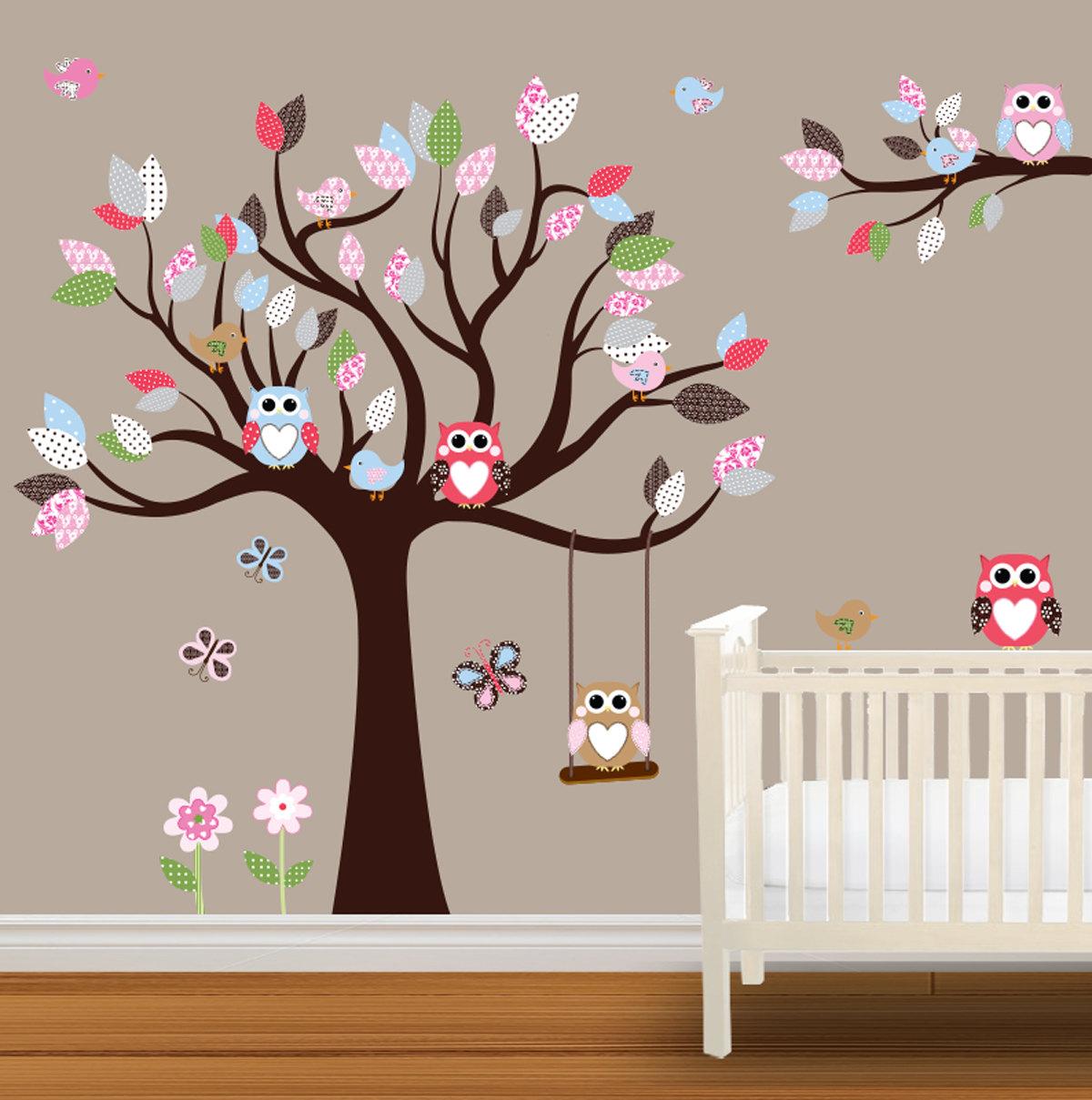 Baby Nursery Wallpaper Sticker Tree Nice 14 Outstanding Kids Wall