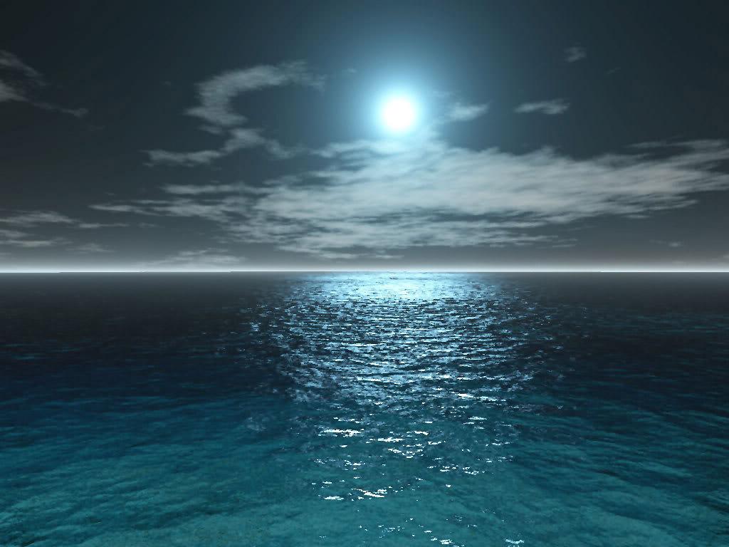 Море ночь анимация картинки