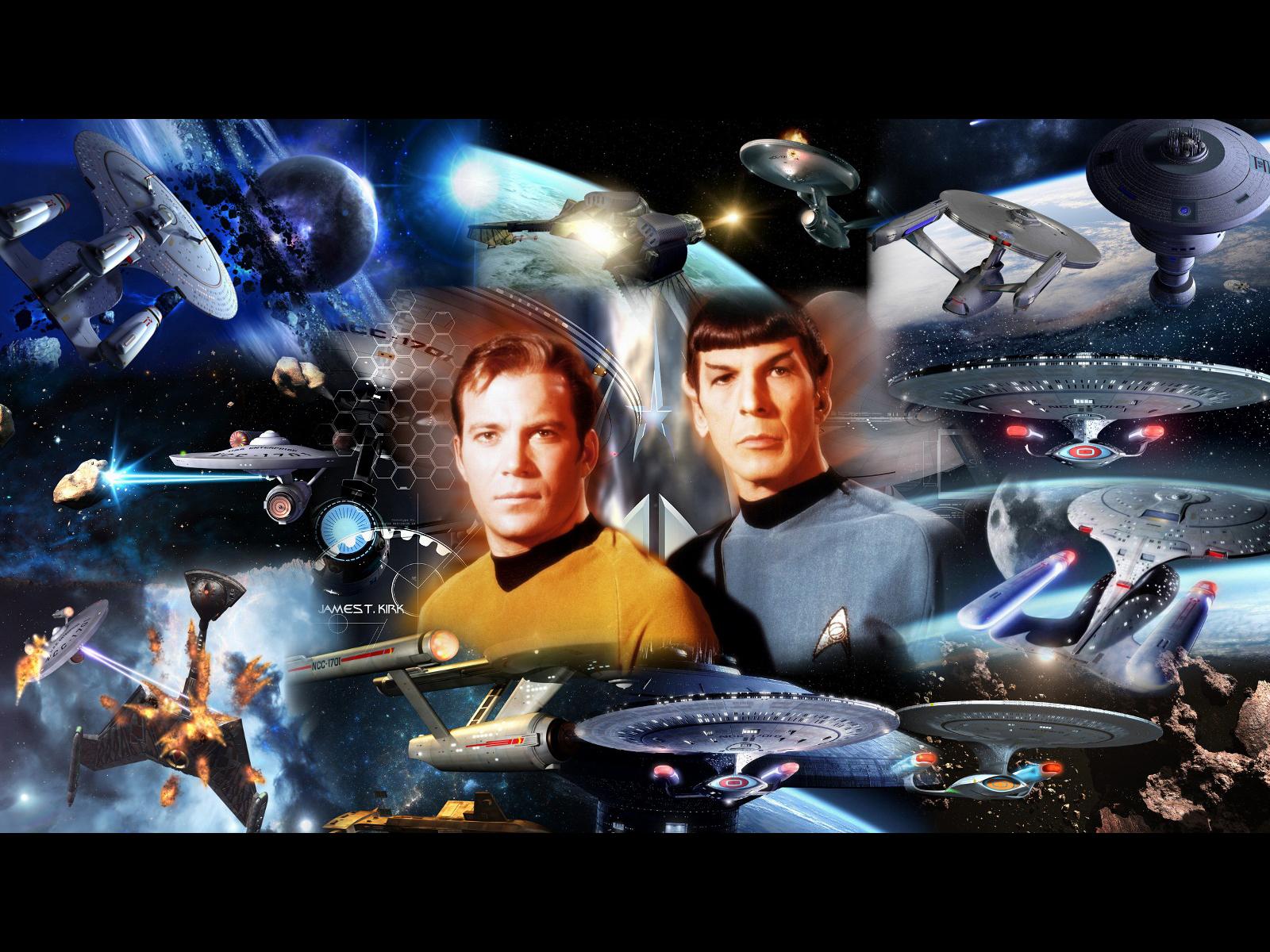 Star Trek Collage Wallpaper Star Trek computer desktop wallpaper 1600x1200