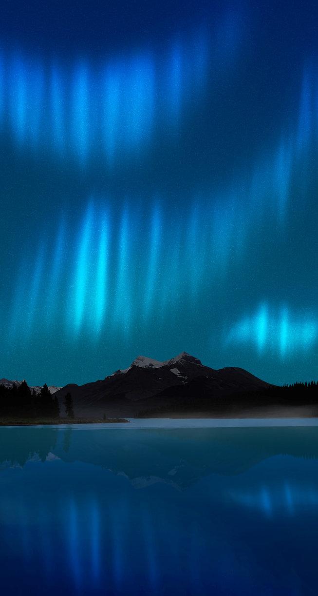 Aurora ios wallpaper wallpapersafari for Sfondi desktop aurora boreale