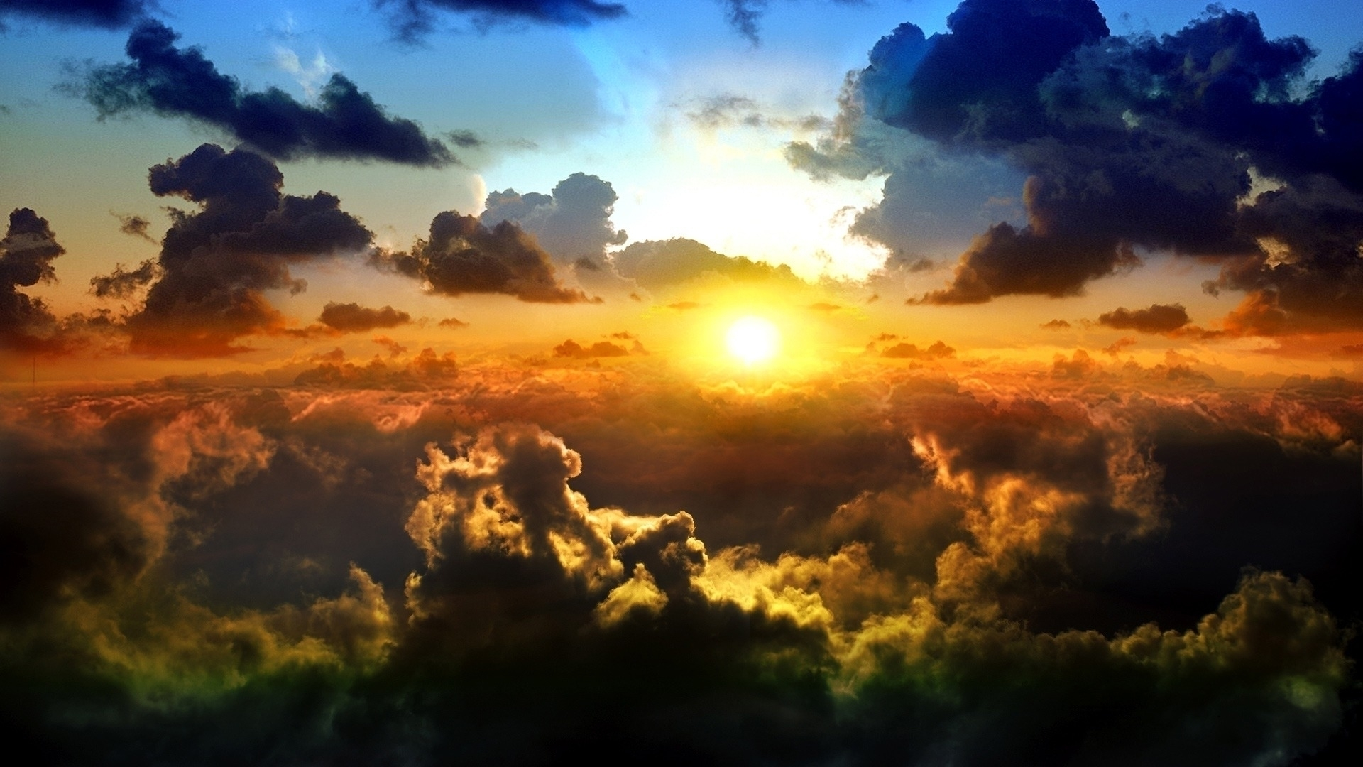 clouds on sunset Wallpaper Background 26092 1920x1080