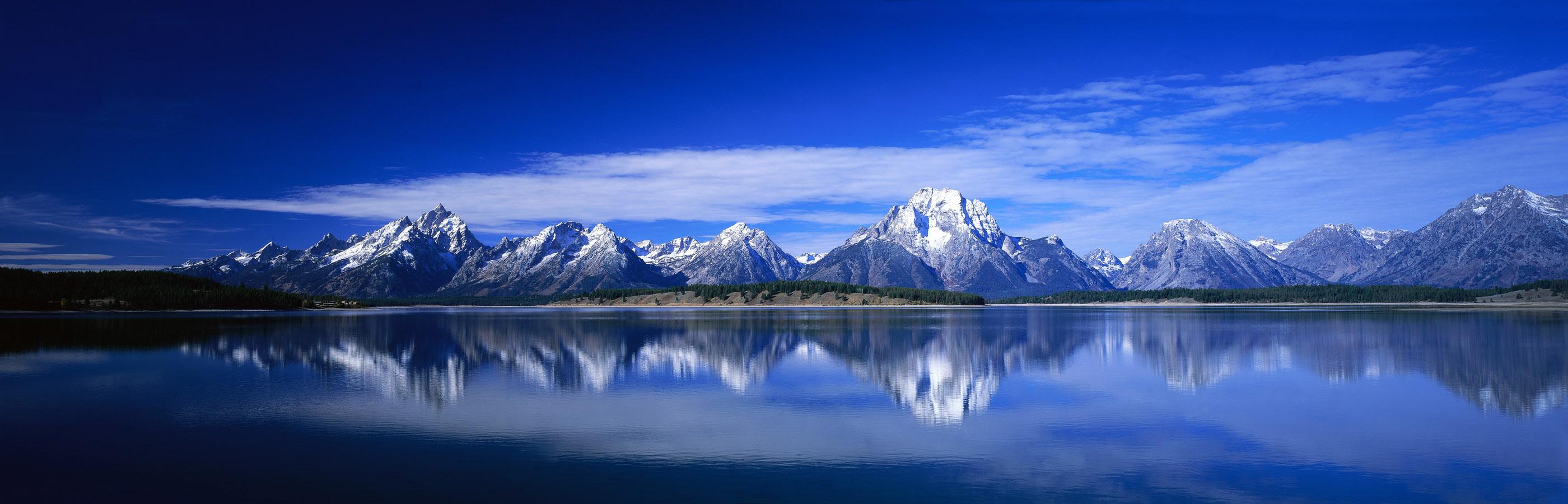 Mountain Lake Wallpapers Panorama Mountain Lake Myspace Backgrounds 2800x900